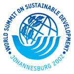 Johannesburg 2002 logosu (World Summit on Sustainable Development)