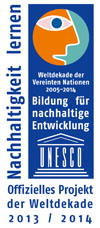 third UN recognition in 2013/2014 (logo of the UNESCO)