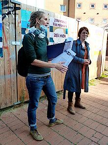 V.l.n.r.: Lea Koch und Jana Fuchs (Foto Gisela Baudy)