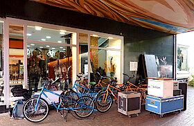 Ankunft von Energiefahrrädern und Equipment (Foto Gisela Baudy)