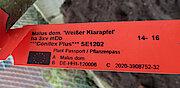 Label Apfelbaumsorte (Foto Gisela Baudy)