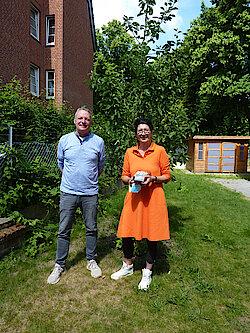 Schulleiterin Kirsten Wimpert und stellvertretender Schulleiter Dirk Witting (Foto Gisela Baudy)