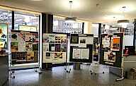 Blick in die Ausstellung der Sparda-Bank-Filiale in Harburg (Foto Chris Baudy)
