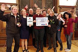 Preisträgerinnen und Preisträger von NaNe (Foto Gisela Baudy)
