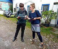 V.l.n.r.: Finn Roth, Lea Koch (Foto Gisela Baudy)