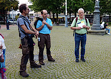 V.l.n.r.: Stephan Meyer, Jens Schwartau, Jürgen Becker (Foto Gisela Baudy)