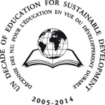 "logo ""UN Decade of Education for Sustainable Development"" of the United Nations"